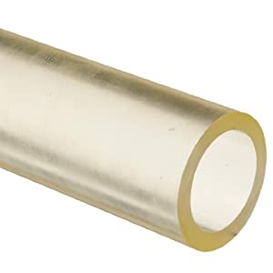 ASTM D624 Hollow Round Rod 3//8 Wall Thickness 36 Length 95 Shore A 1 ID Polyurethane PUR 1-3//4 OD
