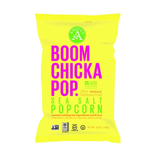 Angie's BOOMCHICKAPOP Sea Salt Popcorn, 4.8 Ounce Bag (Pack of 12) (Angies Popcorn Seasalt compare prices)