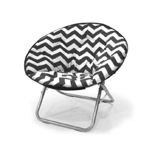Plush Chevron Saucer Chair, Multiple Colors saucer state