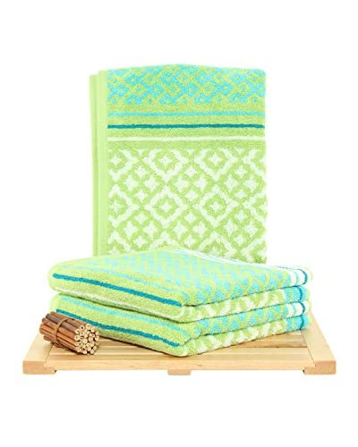 Maisonette Marcocco 3-Piece Hand Towel Set, Kiwi