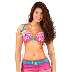 Faux Real Photo Realistic Halloween Costume Cupcake Bikini Ladies T-Shirt