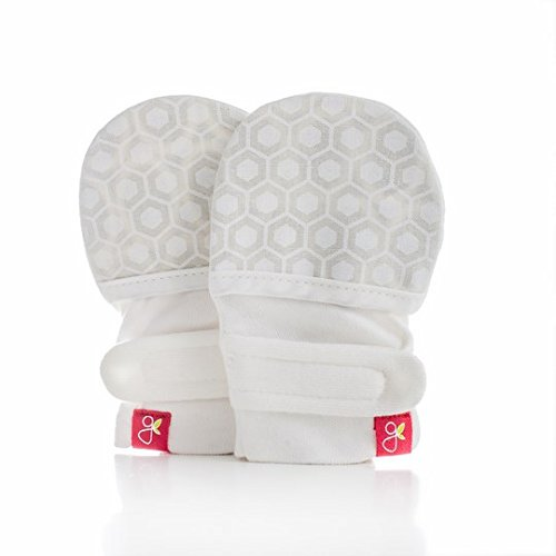 Goumikids Goumimitts Stay On Scratch Mittens, 1 pair M/L Honeycomb (Cream)