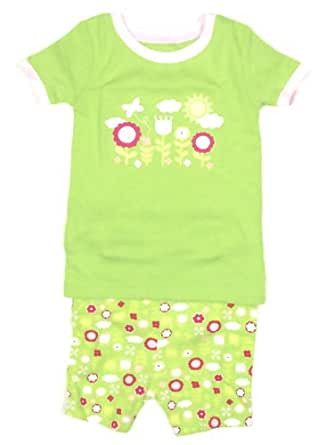 'Flower Garden' Pajamas PJ's 2-Piece Set Infant Girls (12-18 Months)