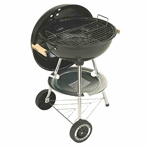 Landmann - Grillchef, Barbecue a carbonella, dalla forma tondeggiante, colore: Nero, 48 x 56 x 85 cm