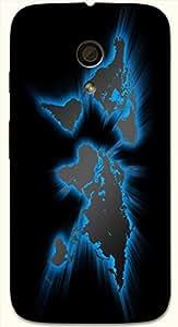 Noticeable multicolor printed protective REBEL mobile back cover for Motorola Moto G (2014) 1st Gen D.No.N-T-3597-MG1