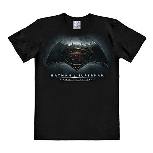 T-shirt Batman v Superman - Dawn of Justice - maglia DC Comics - maglietta girocollo di LOGOSHIRT - nero - design originale concesso su licenza, taglia XL