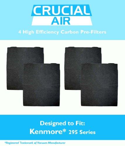4-Pack High Efficiency Kenmore 295 Series Carbon Pre-Filter