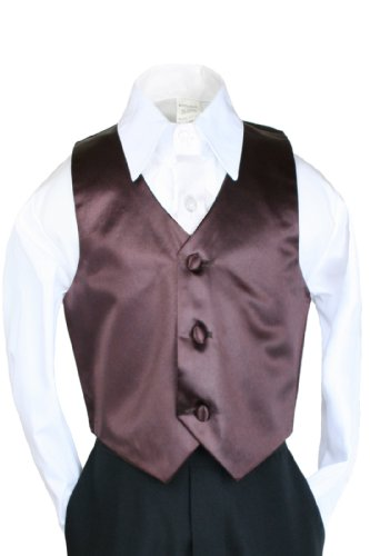 Unotux Boys Satin Brown Vest from Baby to Teen