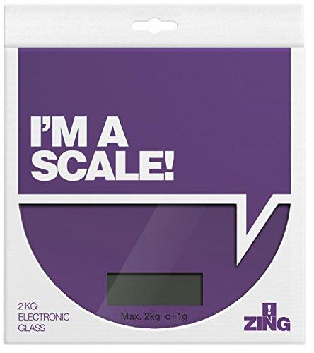 Premier Housewares 0807252 Zing Balance de Cuisine Électronique en Verre Base ABS Violet 2 kg