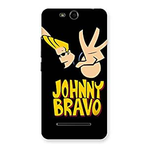 Gorgeous Brave Black Back Case Cover for Micromax Canvas Juice 3 Q392