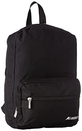 Everest Junior Ripstop Backpack, Black, One Size