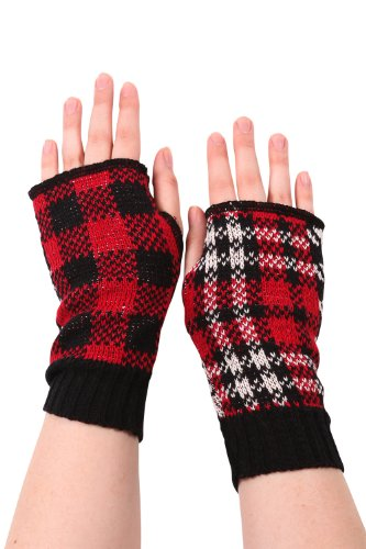 Green 3 Apparel Recycled Plaid Hand Warmers (Red)