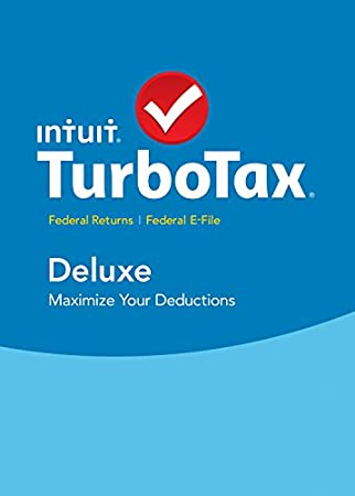 TurboTax Deluxe 2015 Federal + Fed Efile Tax Preparation Software - PC Download