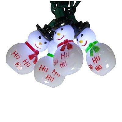 Led Snowman String Lights Cool White, 20 Ct