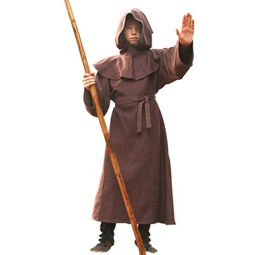 Monk's Robe for Children - Halloween Costumes - Wizard, Priest, Mage, Cleric Robe