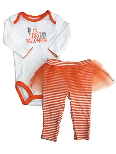 Carters Infant Girls My First Halloween Outfit Owl Bodysuit & Ruffle Tutu Pants
