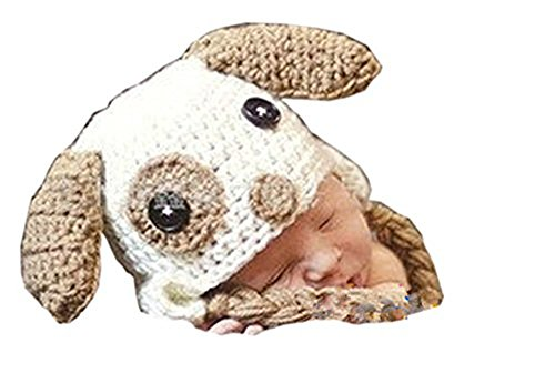 Pinbo Newborn Baby Photography Prop Crochet Knitted Animal Sheep Hat