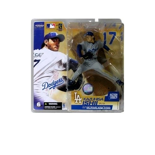 Kazuhisa Ishii #17 Grey Gray Uniform Alternate Chase Variant Los Angeles Dodgers McFarlane MLB Seriae 6 Action Figure