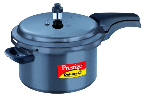 Prestige PDHA5 Deluxe Plus Hard Anodized Pressure Cooker, 5-Liter
