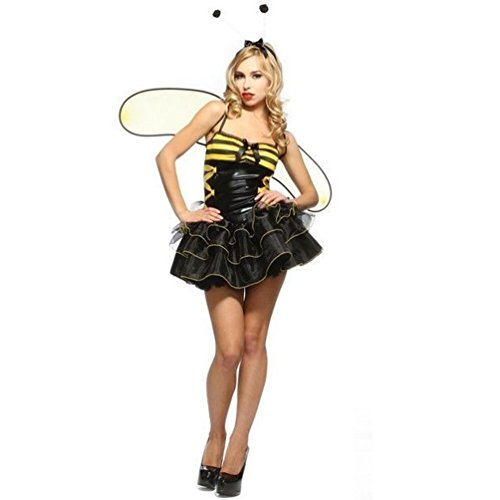 Lip Service Busy Bee Wings Black Lace Women's Costume Dress Sets S