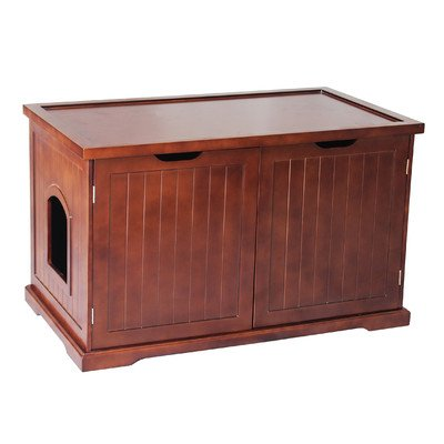 Cat Washroom Bench Litter Box Enclosure From Merry Products