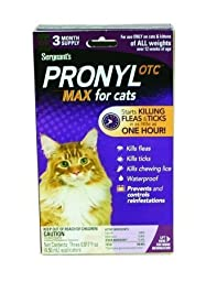 Sergeant Pronyl Max Flea & Tick Topical For Cats All Weights 02449