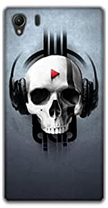 The Racoon Lean music skull hard plastic printed back case / cover for Sony Xperia Z1