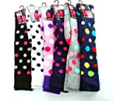 Ladies Girls Wellington Boot Wellie Socks Polka Dot Design Size 4-7 Uk 36-42 EUR (White Top)