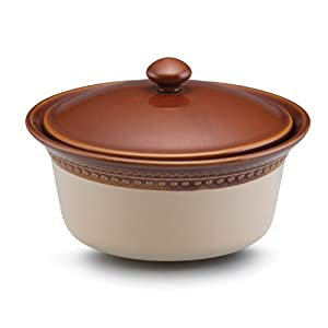 Paula Deen Rustic Stoneware Southern Gathering 1-Quart Covered Casserole