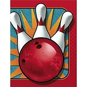 It's A Strike! Bowling Party Invitations 8 Pack