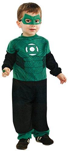 UHC Boy's Lantern Hal Jordan Tiny Tikes Toddler Fancy Dress Halloween Costume, 2T-4T (Green Lantern Toddler Costume)