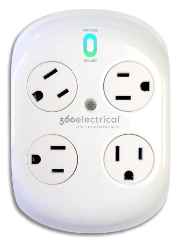 360 Electrical 36036 Revolve Surge Protector With Rotating Outlets
