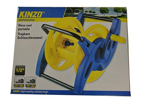 Kinzo-Schlauchtrommel-tragbar-25m-12-20m-34-Schlauchhalter-Schlauchrolle