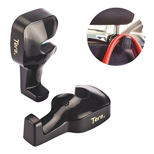 Tera® 高品質 車用 シート フック カー フック シート バック フック ヘッドレスト 取り外し不要 荷物掛け 2個セット