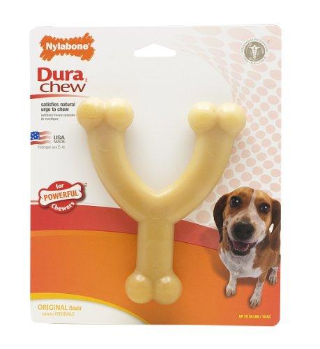 Nylabone Dura Chew Wishbone Chew Toy, Original Flavor, Wolf