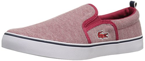 Lacoste Gazon 216 1 SPJ RED Loafer (Little Kid/Big Kid), Red, 3 M US Little Kid