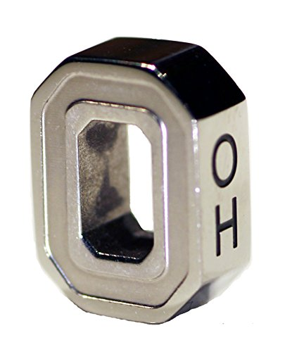 The OH-IO Block O Charm Buckeye Bead/Pendant Ohio State University
