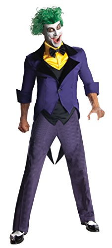 Men's DC Super Villains Adult Joker, Yellow/Purple, Large at Gotham City Store