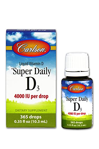 Carlson Labs Carlson Laboratories Super Daily D3 4000IU Supplement, 10.3 ml, 0.35 Fluid Ounce (4000 Iu Vitamin D compare prices)