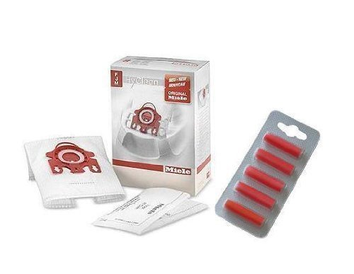 Miele Fjm Hyclean Vacuum Cleaner Dust Bags Filters & Air Freshener Sticks Pack Of 4 (Miele Dust Bags Fjm compare prices)