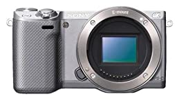 Sony NEX-5R/S 16.1 MP Compact Interchangeable Lens Digital Camera with 3-Inch LCD - Body Only (Silver)