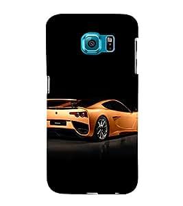 EPICCASE glittery ferrari Mobile Back Case Cover For Samsung Galaxy S6 (Designer Case)