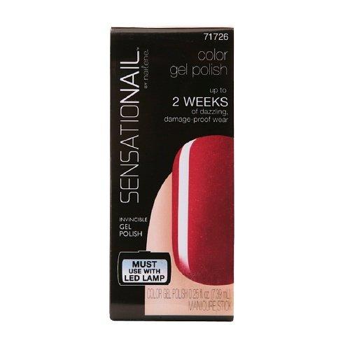 Sensationail Color Gel Polish, Misfit Red 0.25 Fl Oz (7.39 Ml)