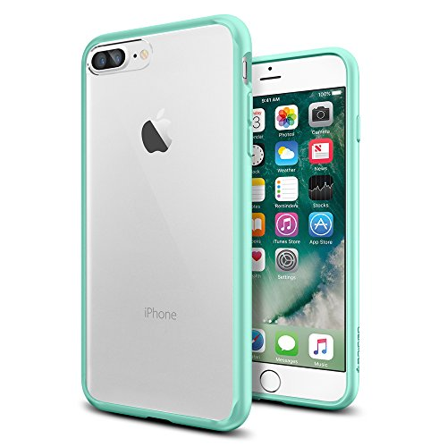 iPhone-7-Plus-Case-Spigen-Ultra-Hybrid-AIR-CUSHION-Mint-Clear-back-panel-TPU-bumper-for-iPhone-7-Plus-2016-043CS20551