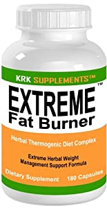 Extreme Fat Burner 180 Capsules Weight Loss Diet Pills Krk Supplements from KRK SUPPLEMENTS