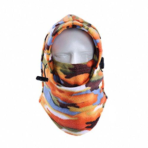Maoko Camo Fleece Winter Balaclava Outdoor Sports Windproof Cycling Warmer Full Face Mask Beanies RZ23