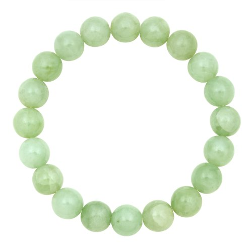 10mm Green Round Jade Stretch Bracelet Gift Box