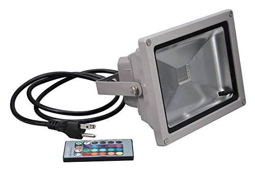 Generic Econo LED 558866 Remote Control RGB Waterproof Flood Light, 16 Different Color Tones, 10W (Led Rgb Lights compare prices)