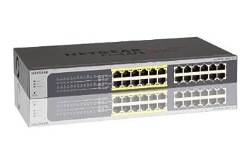 Netgear JGS524PE-100EUS Switch Web Managed (Plus) Configurable PoE 24 Ports Gigabit