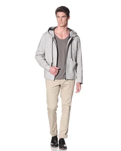 Marc Stone Men's Irazu Jacket with Drawstrings and Hood  [Grey]